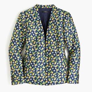 J Crew lemon jacquard blazer